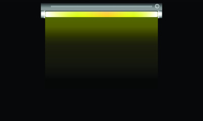 fluorescent lamp simple style vector illustration on black background