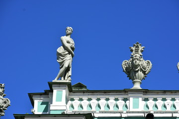 State Hermitage Roof Decor St.Petersburg Russia