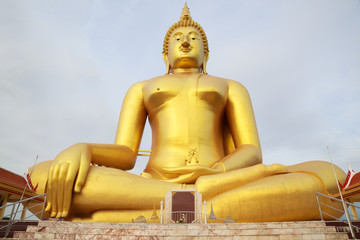 Big Golden Buddha Image at Wat Muang (Muang Buddhist Temple), Ang Thong, Thailand