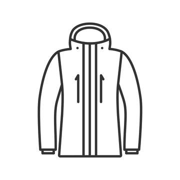 Ski jacket linear icon