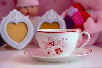 cup, tea, coffee, drink, white, breakfast, beverage, food, pink,