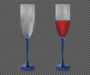 Wine glasses vector