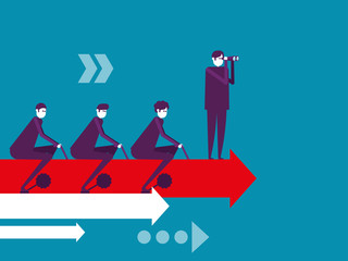 Business teamwork, Vector illustration business cooperation concept, Meeting, Growth.