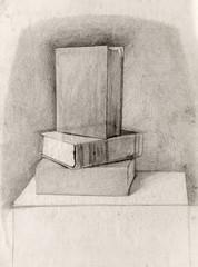 still life, pencil drawing, sketch