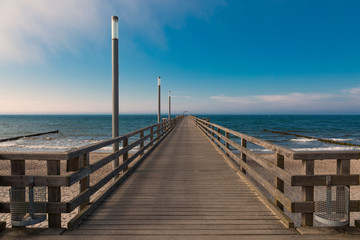 Seebrücke an der Ostsee in Mecklenburg-Vorpommern