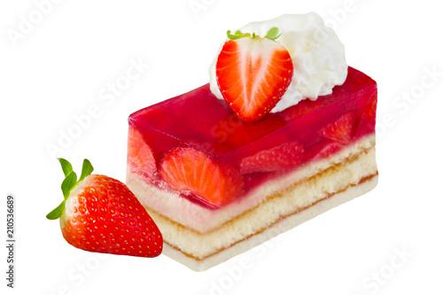 Erdbeeren Und Erdbeerkuchen Mit Sahne Stockfotos Und Lizenzfreie