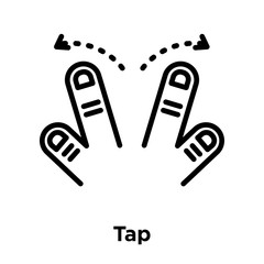 Tap icon vector sign and symbol isolated on white background, Tap logo concept