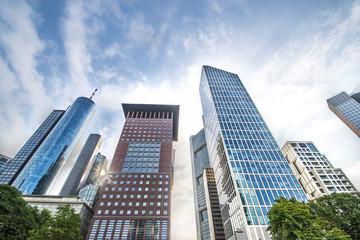 Frankfurt Bankenviertel Hochhäuser Skyscrapers Fototapete