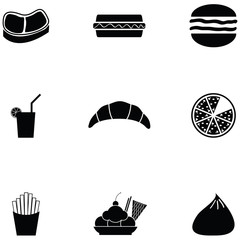 lunch icon set