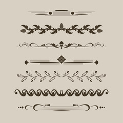 set decorative delimiters