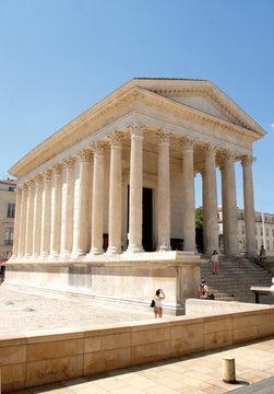 Ville de Nîmes, la Maison Carrée, Nîmes, Gard, France