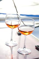 Fotobehang Cocktail glasses of wine