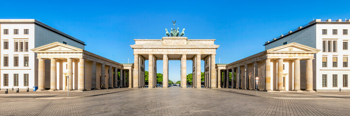 Fototapete - Das Brandenburger Tor am Pariser Platz in Berlin, Deutschland