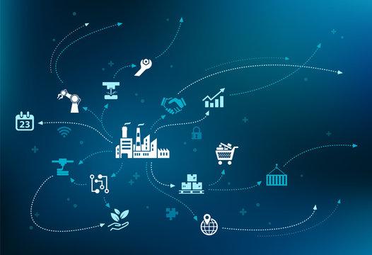 innovation / smart technology / business challenges design – vector illustration