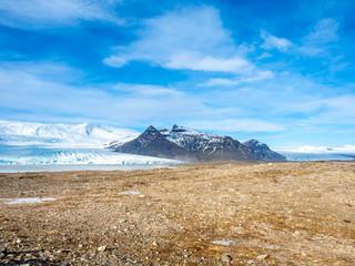 Fjallsarlon glacier in winter season, Iceland