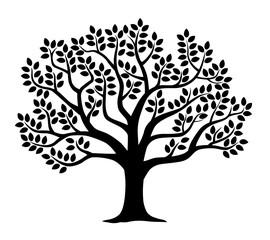 木のシルエットイラスト