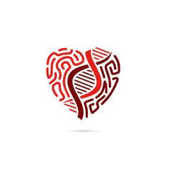DNA Logo Design Vector