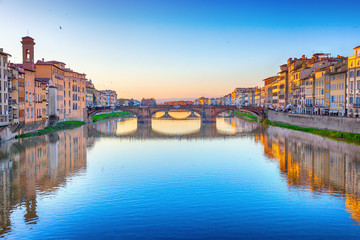 St. Trinity Bridge in Florence, Italy
