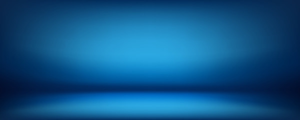 blue background, abstract wall studio room, can be used to present your product Fototapete