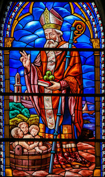 Stained Glass of St Nicholas in Valencia