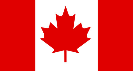 the flag of Canada. vector illustration