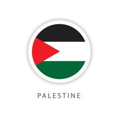 Palestine Circle Flag Vector Template Design Illustrator