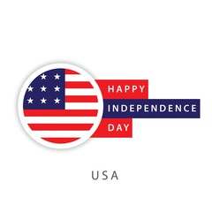 Happy USA Independence Day Vector Template Design Illustrator