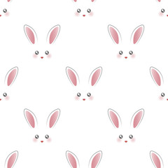 Cute rabbit face pattern