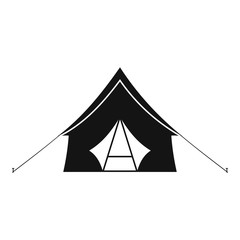 Camp tent icon. Simple illustration of camp tent vector icon for web design isolated on white background