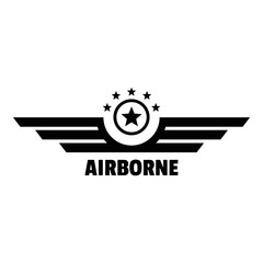 Airborne logo. Simple illustration of airborne vector logo for web design isolated on white background