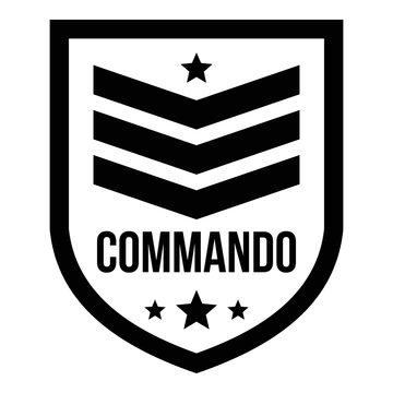 Commando badge logo. Simple illustration of commando badge vector logo for web design isolated on white background