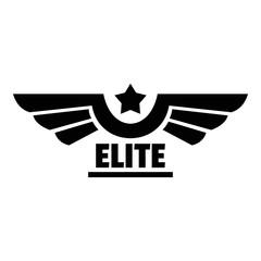 Elite logo. Simple illustration of elite vector logo for web design isolated on white background