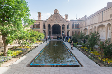 Borujerdi (Borujerdiha) house is a historic house in Kashan, Iran. The house was built in 1857 by architect Ustad Ali Maryam for the wife of Seyyed Mehdi Borujerdi