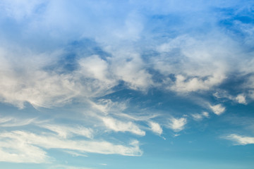 Colorful cloudy with clear sky background