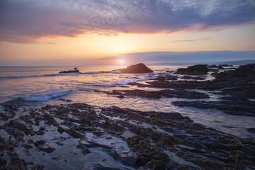 Sunset at Hope Cove, Devon