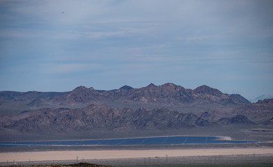 A solar energy power plant generating electricity for Las Vegas and other areas of the southwest in the Mojave desert