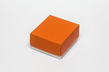 empty cardboard box isolated on white background.