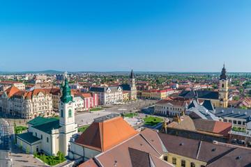 Oradea - Union Square viewed from above in Oradea, Romania
