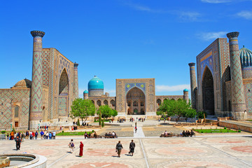 The Registan -  the heart of the ancient city of Samarkand  in Uzbekistan