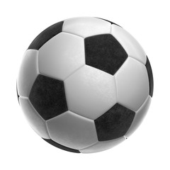 Soccer-ball isolated on white background 3d illustration