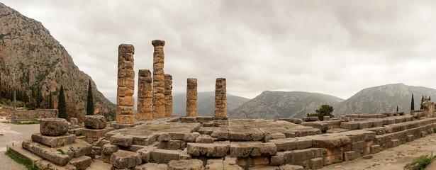 Ancient ruin temple in Delphi, Greece. Wall mural