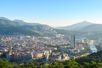 panoramic view of bilbao Basque city, Spain