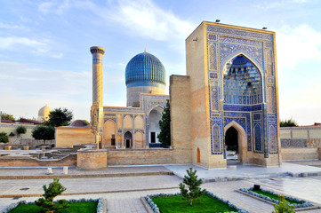 Gur-Emir mausoleum of Tamerlane (Amir Timur) and his family in Samarkand, Uzbekistan