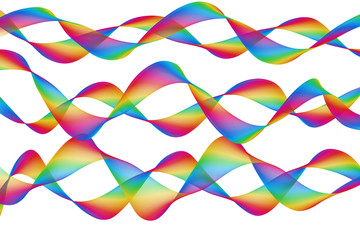 Abstract random colourful waves background design illustration