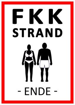 D-064 30x20cm Schild FKK Strand FKK Bereich Freik/örperkultur SCHILD