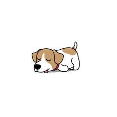 Lazy jack russell puppy cartoon, vector illustration
