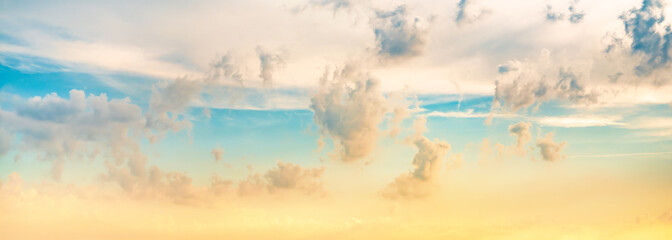 Colorful sky with clouds as background