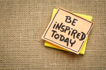 Be inspired today - reminder note