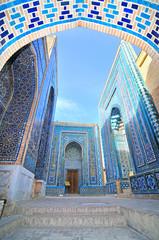 Photo sur Toile Monument Shah-i-Zinda necropolis in Samarkand, Uzbekistan.