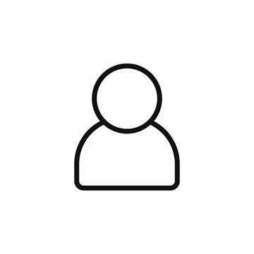 The icon of user. Simple outline icon illustration, vector of user for a website or mobile application